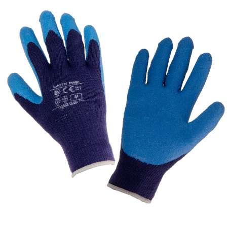 Rękawice ocieplane lateksowe niebieskie Lahti Pro L250108K