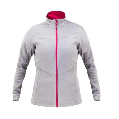 Bluza polar szaro różowy 290 damska Lahti Pro L40106